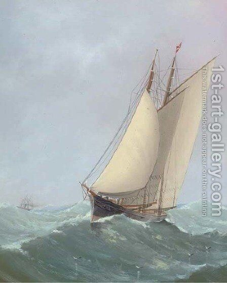 Housed topmasts by Charles Keith Miller - Reproduction Oil Painting