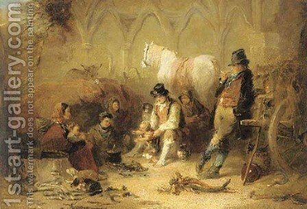 The first steps by Charles Landseer - Reproduction Oil Painting
