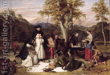 The Merry Monks of Melrose by Charles Landseer - Reproduction Oil Painting