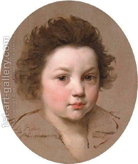 Head of a boy by Charles Le Brun - Reproduction Oil Painting