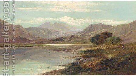 Llyn Taly-LLyn, Wales by Charles Leslie - Reproduction Oil Painting