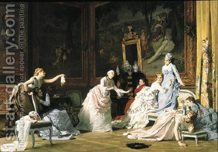 Blind Man's Buff by Charles Baugniet - Reproduction Oil Painting