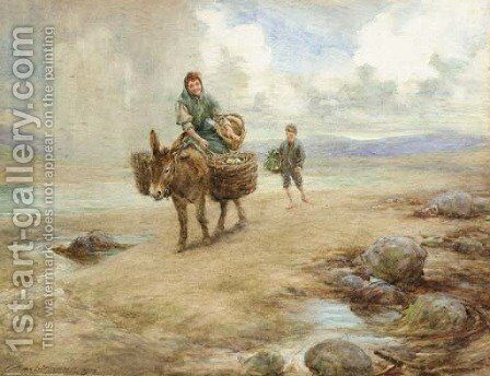 Returning home across the sands by Charles MacIvor or MacIver Grierson - Reproduction Oil Painting