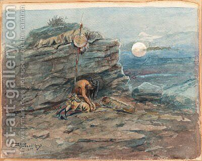 Russell, Charles Marion by Charles Marion Russell - Reproduction Oil Painting