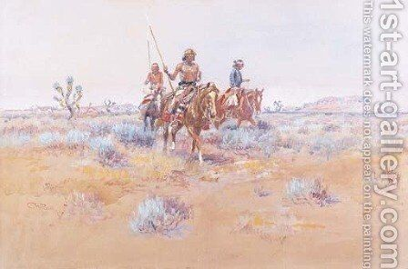 The Navajos by Charles Marion Russell - Reproduction Oil Painting