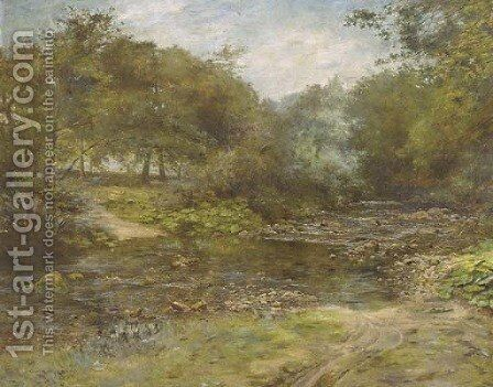 A ford on the south Esk by Charles Martin Hardie - Reproduction Oil Painting
