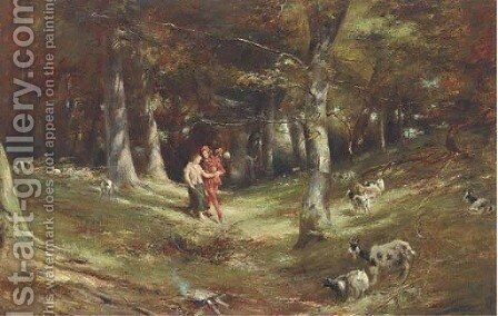 The jester and the shepherdess by Charles Martin Hardie - Reproduction Oil Painting