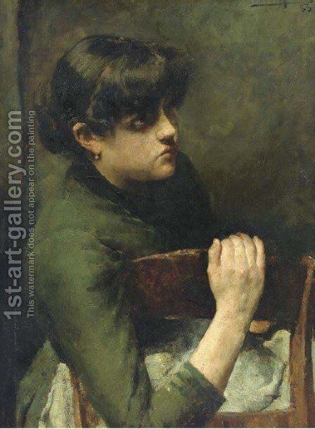 A moment of rest by Charles Mertens - Reproduction Oil Painting