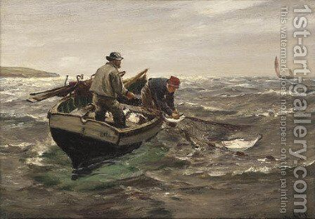 The Trammel Net by Charles Napier Hemy - Reproduction Oil Painting