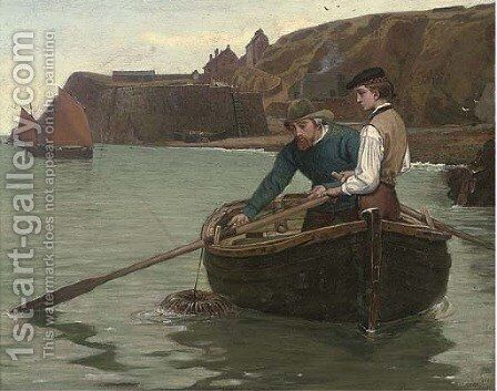 Lobstering by Charles Napier Hemy - Reproduction Oil Painting