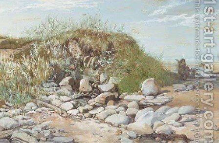Near Monkseaton, Northumberland by Charles Napier Hemy - Reproduction Oil Painting