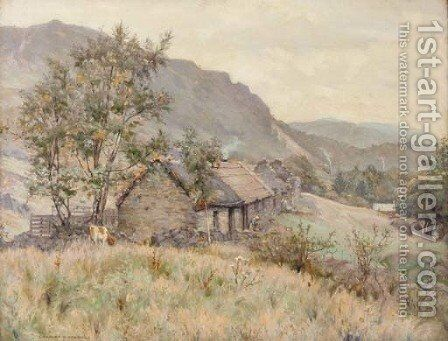 The Campsie Hills, Scotland by Charles R. Dowell - Reproduction Oil Painting
