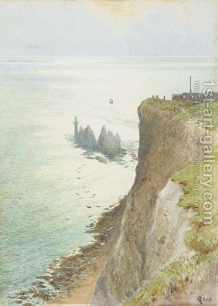 The Needles, Isle of Wight by Charles Robertson - Reproduction Oil Painting