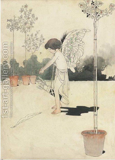 The winged archer by Charles Robinson - Reproduction Oil Painting