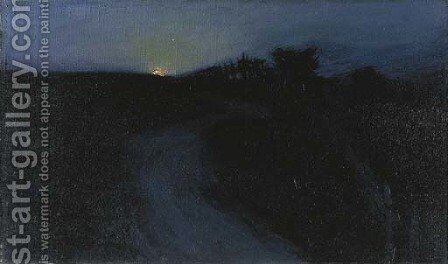 Twilight on the Farm by Charles Rollo Peters - Reproduction Oil Painting