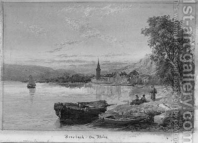 Braubach on the Rhine by Charles Rowbotham - Reproduction Oil Painting