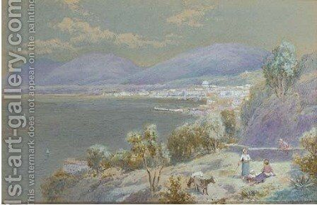 Castel a Mare, Sicily by Charles Rowbotham - Reproduction Oil Painting
