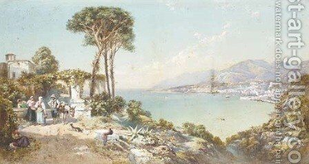 Castelamare, Bay of Naples by Charles Rowbotham - Reproduction Oil Painting