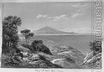 View of Capri from Massa by Charles Rowbotham - Reproduction Oil Painting