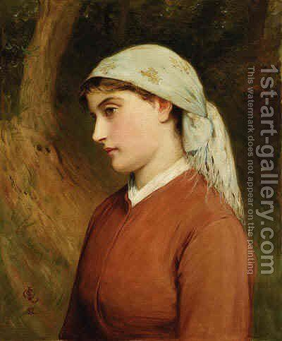 A Young Beauty 2 by Charles Sillem Lidderdale - Reproduction Oil Painting