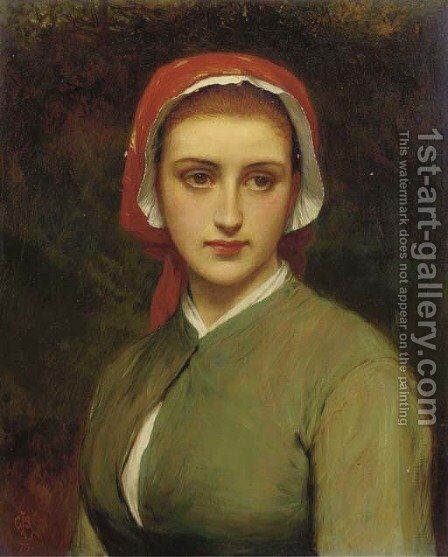 A young beauty 3 by Charles Sillem Lidderdale - Reproduction Oil Painting