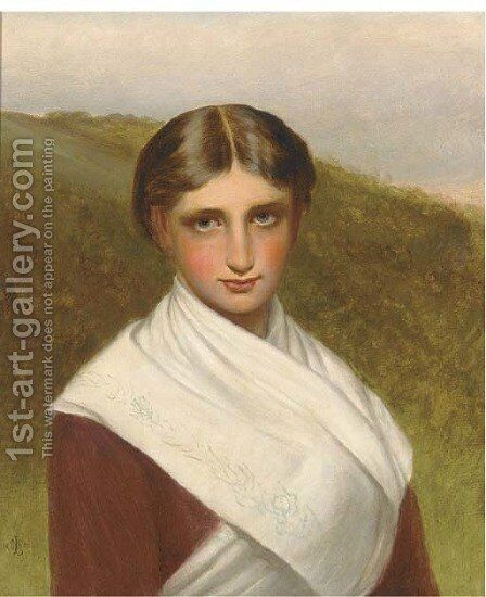 A country girl 2 by Charles Sillem Lidderdale - Reproduction Oil Painting