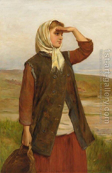 The fisherman's daughter by Charles Sillem Lidderdale - Reproduction Oil Painting