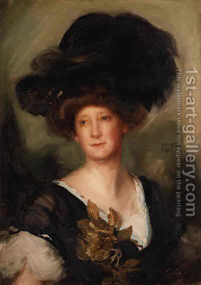 Portrait of Frances Evelyn by Charles Simms - Reproduction Oil Painting