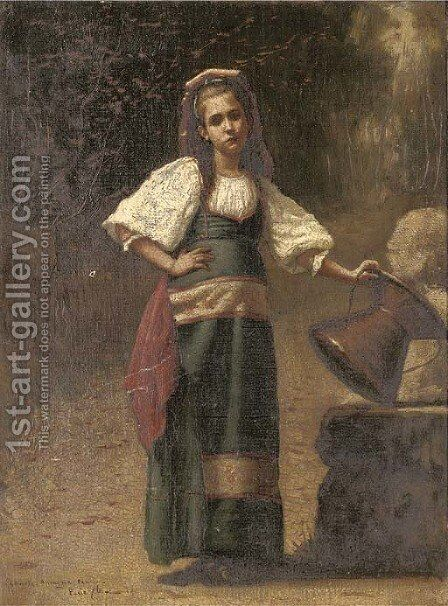 Contadina 2 by Charles Sprague Pearce - Reproduction Oil Painting