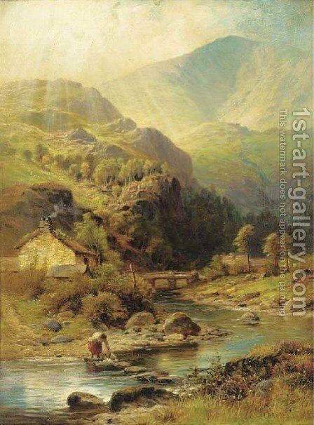 A Highland glen by Charles Stuart - Reproduction Oil Painting