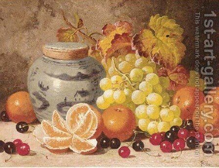 Oranges, cherries, grapes, and a ginger jar by Charles Thomas Bale - Reproduction Oil Painting