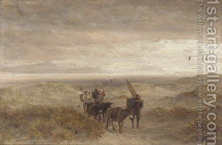 Returning home from a days fishing by Charles Thomas Burt - Reproduction Oil Painting