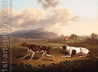Two Pointers in a Landscape by Charles Towne - Reproduction Oil Painting