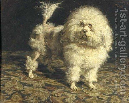 Pedro portrait of a poodle by Charles van den Eycken - Reproduction Oil Painting