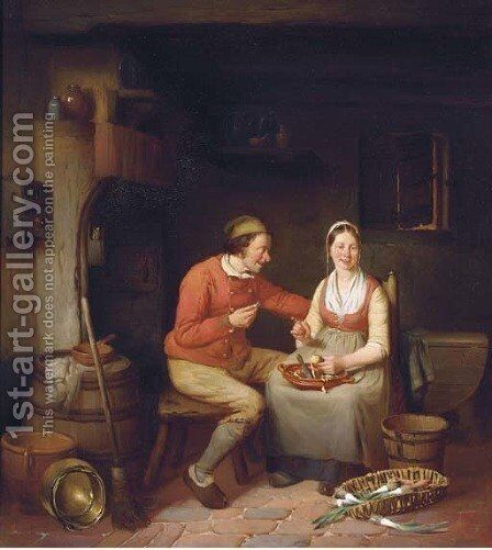 A penny for your thoughts by Charles Venneman - Reproduction Oil Painting