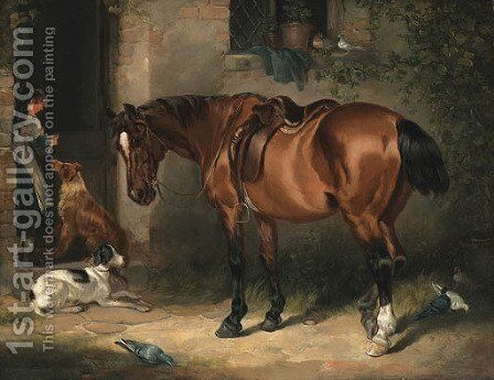 Waiting for Master by Charles Waller Shayer - Reproduction Oil Painting