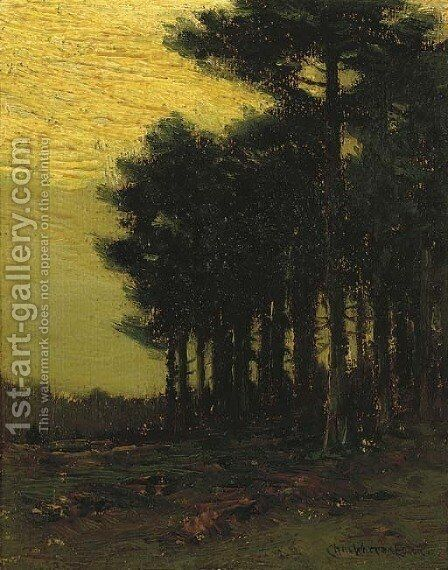 A Stand of Trees at Dusk by Charles Harry Eaton - Reproduction Oil Painting