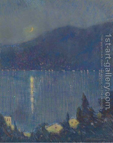 Nocturne, Lake Como by Charles Harry Eaton - Reproduction Oil Painting