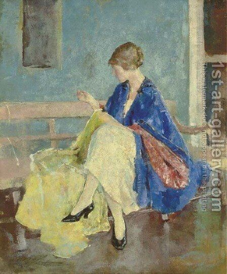 Blue Kimono by Charles Webster Hawthorne - Reproduction Oil Painting
