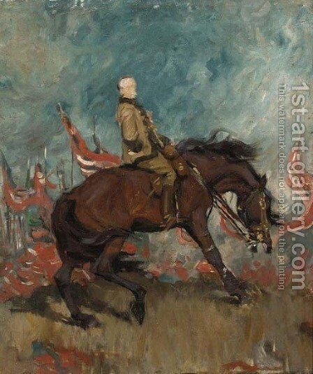 Study for the Equestrian Portrait of Field-Marshal Earl Roberts by Charles Wellington Furse - Reproduction Oil Painting