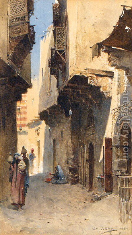 An Arab Backstreet by Charles Wilda - Reproduction Oil Painting