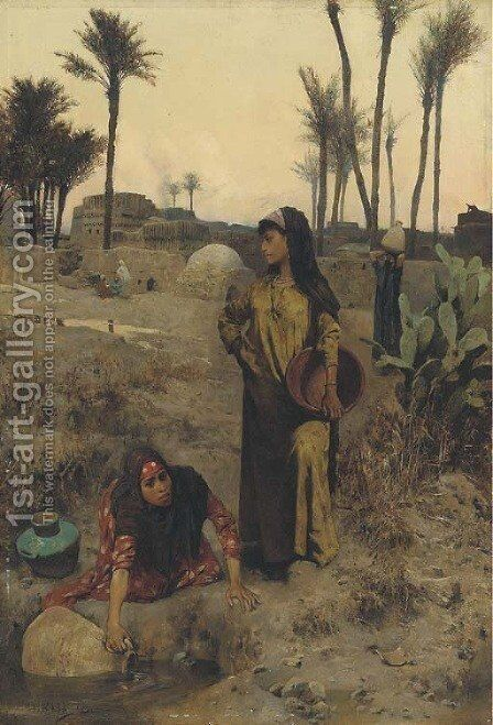 The water carriers by Charles Wilda - Reproduction Oil Painting