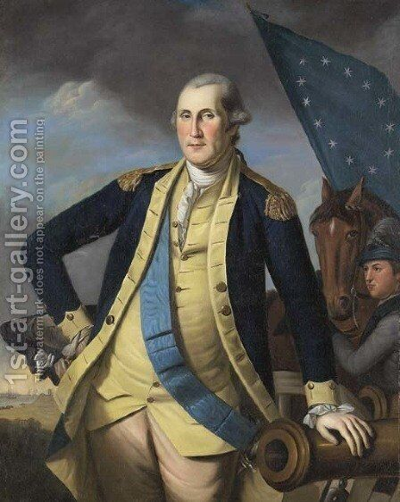 George Washington 2 by Charles Willson Peale - Reproduction Oil Painting