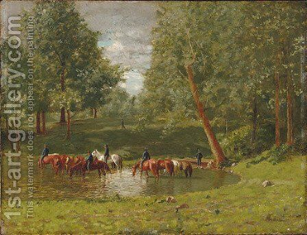 First Ohio Calvary, Huntsville, Alabama by Charles Xavier Harris - Reproduction Oil Painting