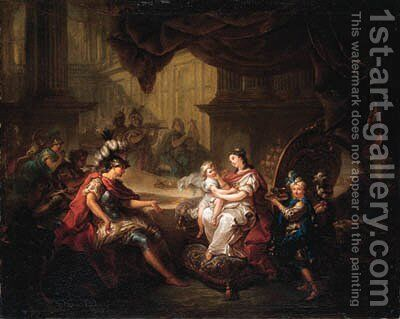 Dido's banquet by Charles-Amedee-Philippe van Loo - Reproduction Oil Painting