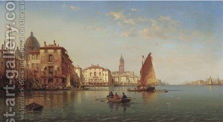 Venice by Charles Euphraisie Kuwasseg - Reproduction Oil Painting