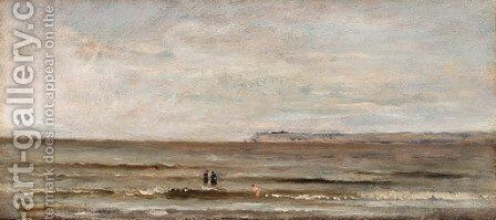 Les baigneurs (The sea bathers) by Charles-Francois Daubigny - Reproduction Oil Painting