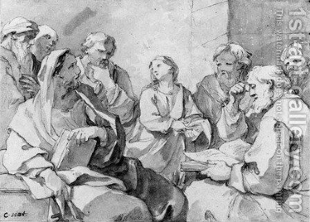 Christ and the Doctors by Charles Joseph Natoire - Reproduction Oil Painting