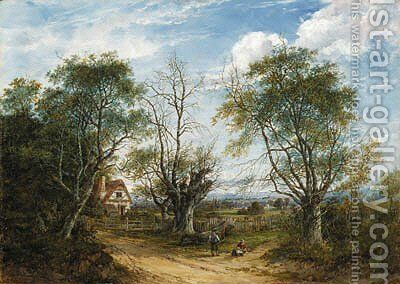 A view near Chiddington in Kent by Charlotte Nasmyth - Reproduction Oil Painting