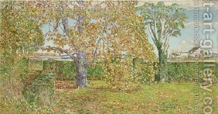 Autumn Landscape, East Hampton by Childe Hassam - Reproduction Oil Painting